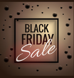 Elegant black friday sale poster template with vector
