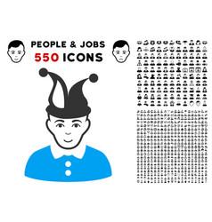 Fool icon with bonus vector