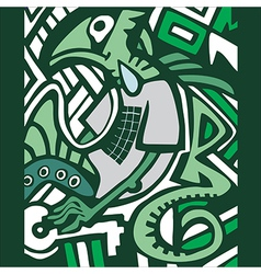 graffiti sketch with dragon vector image vector image