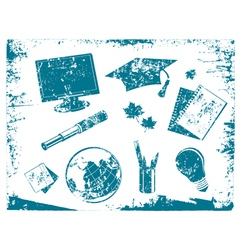 Grunge Education Tool vector image