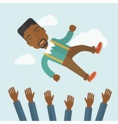 Happy african-american businessman vector