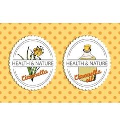 Health and nature collection citronella vector