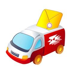 icon post deliver car vector image vector image