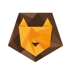 Lion silhouette low poly icon vector