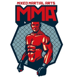 MMA fighter stand vector image