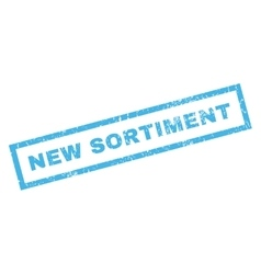 New Sortiment Rubber Stamp vector image vector image