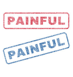 Painful textile stamps vector