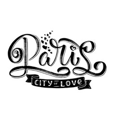 paris hand drawn calligraphy brush vector image