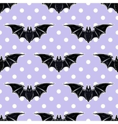 Seamless cute background with bats vector image vector image