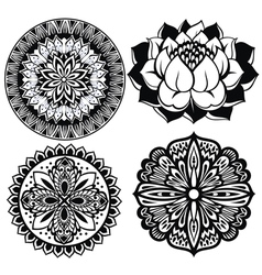 Set mandalas vector