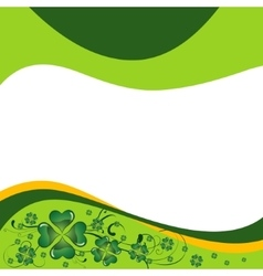 St Patricks Day greeting vector image