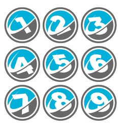 Swoosh Number Logo Icons vector image vector image