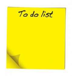 to do note vector image vector image