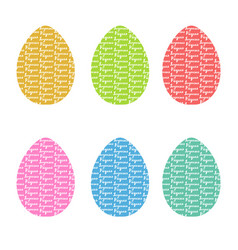 Hand drawn eggs with hand drawn lettering vector