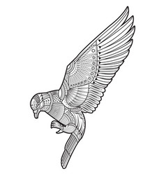 Drawing dove pigeon vector
