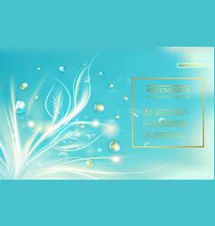 Bio regenerate face cream vector