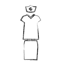 Nurse suit isolated icon vector