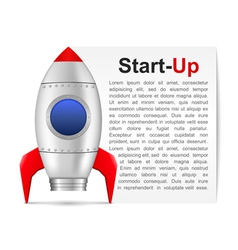 Start-up banner vector