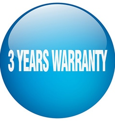 3 years warranty blue round gel isolated push vector