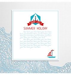 Paper summer design vector image