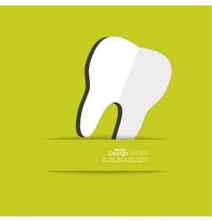 Human tooth with a ribbon vector