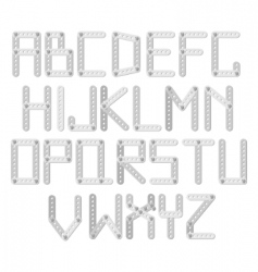 metal designer alphabet vector image