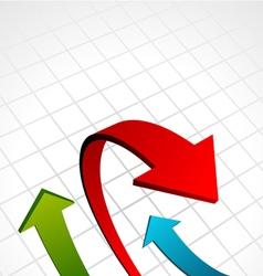 graph arrows vector image