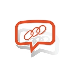 Chain message sticker orange vector