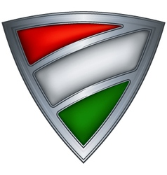 Steel shield with flag hungary vector