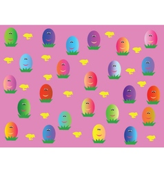 Wallpaper with eggs vector
