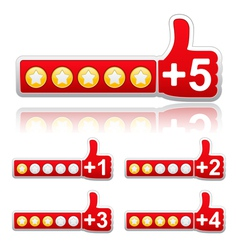Rate buttons vector
