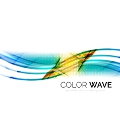 Glossy wave isolated on white background vector