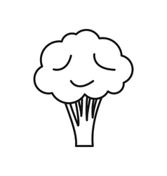 Broccoli icon outline style vector