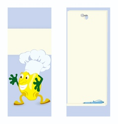 Lemon cartoon character card vector
