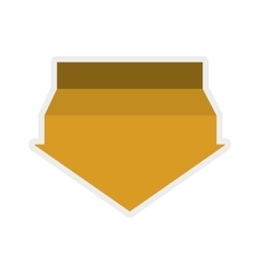 Yellow arrow icon direction design vector
