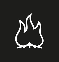 A fire icon vector