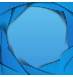 Abstract blue background overlap layer and shadow vector image