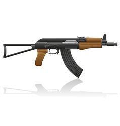 automatic machine AK 47 02 vector image