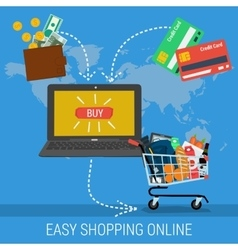 Banner - easy methods online shopping vector image vector image