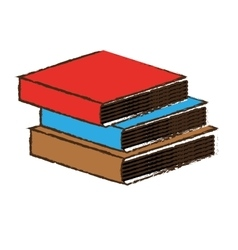 Book pile icon image vector