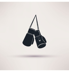 Boxing label and icon in flat style vector image