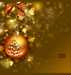 bright Christmas background vector image