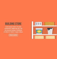 building store banner horizontal concept vector image vector image