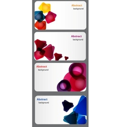 business card with Colored blots vector image vector image