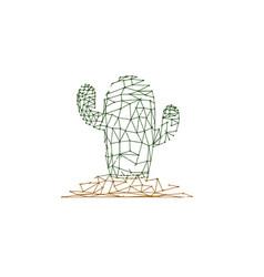 cactus desert plant prickly plant thorny vector image
