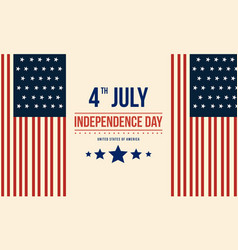 Collection stock of independence day flat vector