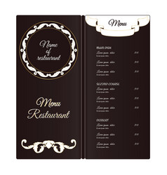 Elegant vertical restaurant menu template it is vector