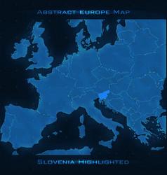 Europe abstract map slovenia vector