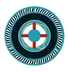 Float lifeguard emblem icon vector