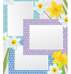 frames flowers vector image